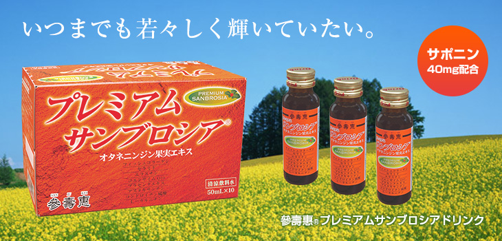 A drink with carefully blended Panax Ginseng Fruit Extract Powder